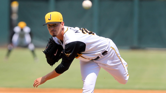 Justin Nicolino, the 2014 Southern League Most Outstanding Pitcher. Photo Courtesy: Cliff Welch
