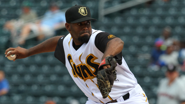 Lay Batista is now with Triple-A New Orleans. Photo Courtesy: Jay Metz