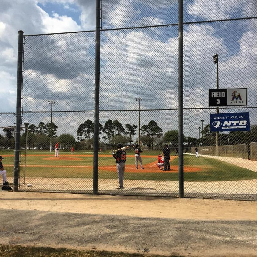 I caught some of Friday's AA Marlins vs. AA Cardinals game on the minor league fields in Jupiter.