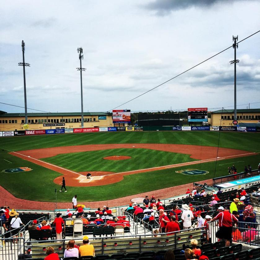 Roger Dean Stadium before Sunday's game between the Marlins and the Cardinals. Photo Courtesy: Roger Hoover.