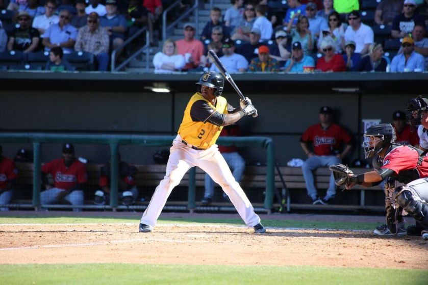 Jeremias Pineda leads the Southern League with six stolen bases. Photo Courtesy: Marie Cox.